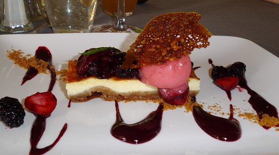 Saint-Pierre-la-Palud, France: cheese-cake....