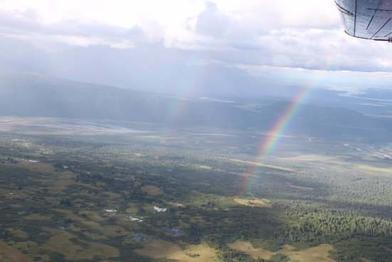 Talkeetna Air Taxi: The rainbows to the northwest of Talkeetna!