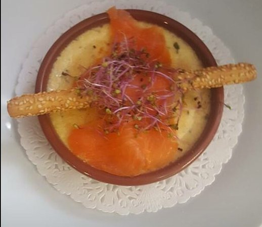 Crème brûlée au saumon