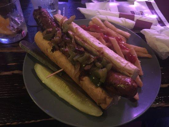 Swingin' Door Exchange: Spicy Hungarian sandwich with fries. Epic!