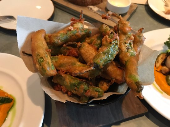 On Swann: Fried tempura peppers...DELISH!