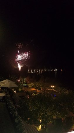Hotel des Trois Couronnes: Fireworks from our patio