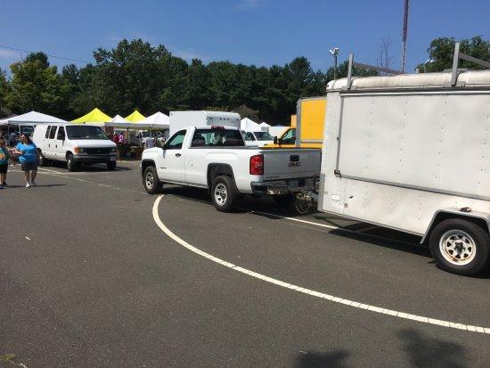 Dale City, VA: The vendors staging area.