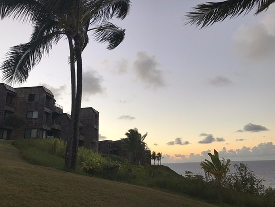 Sealodge at Princeville: View from the lawn: Cluster G condo building. G7 is sort of in the middle