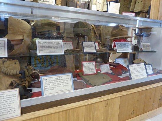 Edinburg, VA: Exhibit - Military Hats