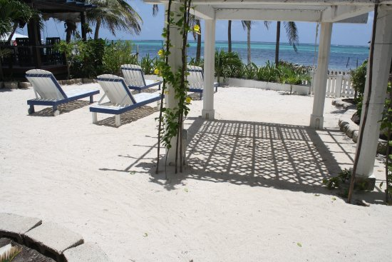 Holiday Hotel: View from room of the patio area