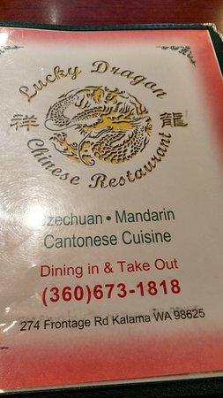 Kalama, WA: menu front