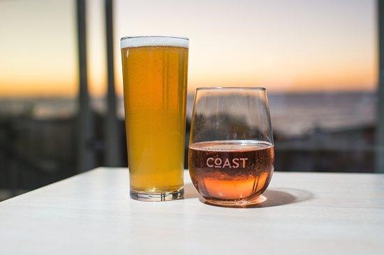 Drinks At Sunset Coast Port Beach