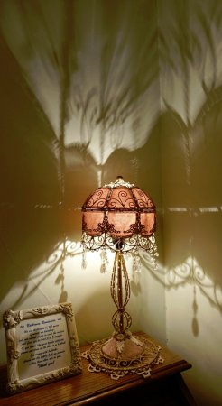 Lion and the Rose Victorian Guest House: Lampshade shadows in bedrrom- charming!
