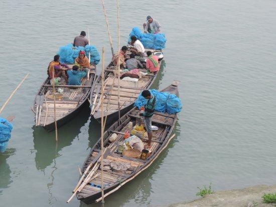 Brahmaputra River: towards local market in river bank