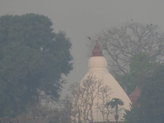 Temple in island of brahmaputra river