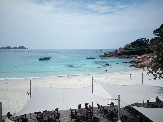 Laguna Redang Island Resort: 一天吃三餐的餐廳景觀