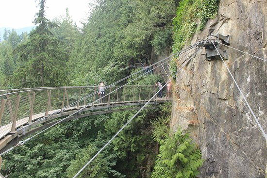 Nord-Vancouver, Canada: Capilano Cliff Walk cable supports