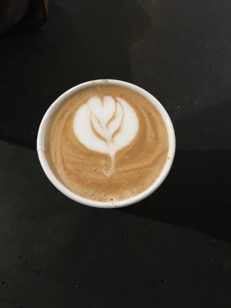 East Bay Coffee Company: My pretty and tasty cappuccino.