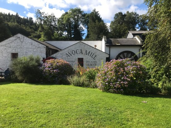 The Mill at Avoca Village : Avoca Mill and the beautiful grounds, County Wicklow, Ireland