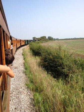 Chemin de Fer de la Baie de Somme : Vue du train