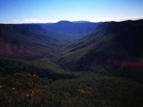 Blackheath, Αυστραλία: Looking down the valley of Evans Head