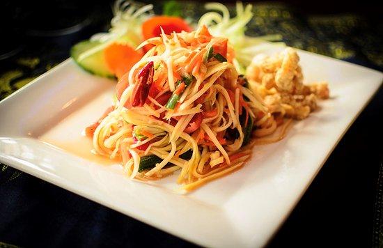"""House of Siam Thai Restaurant: Som tom, """"Papaya pok pok"""""""