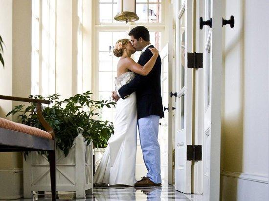 Hot Springs, VA: Bride & Groom Kiss