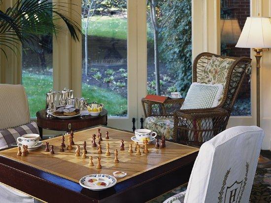 Hot Springs, VA: Board Games in Garden Wing Breezeway