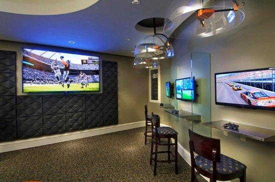 Hot Springs, VA: Gaming Room at Down Time