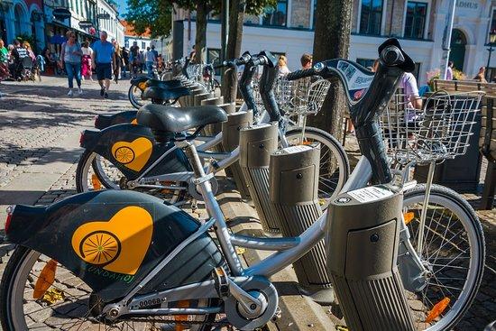 Skåne, Suède : Rowery miejskie w Lund, fot. Elwira Sabatowska