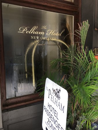 The Pelham: near the outside entrance