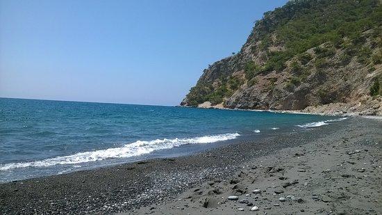 the bech of agia Roumeli, next to Calypso