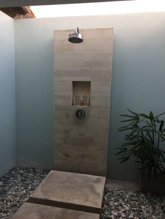 Living Asia Resort And Spa Lombok The Semi Outdoor Bathroom