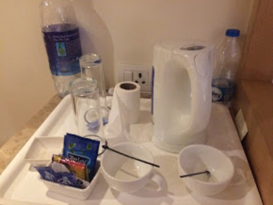 Accord Puducherry: Not sure why Toilet roll sitting in Tea tray