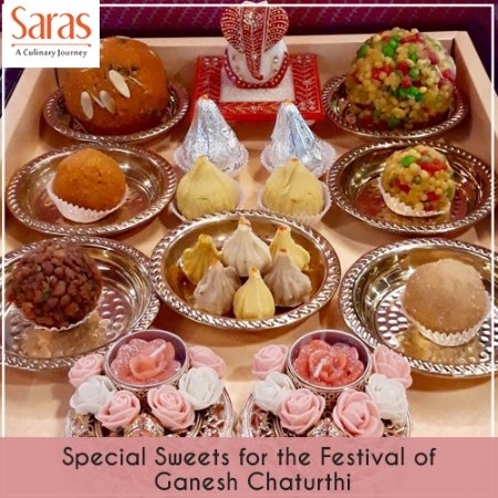 Saras, Pure Vegetarian Indian Restaurant: Special Sweets Available for the Festival of Ganesh Chaturthi!!