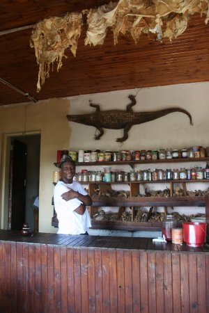 Tzaneen, Zuid-Afrika: Our guide James Ndhlovu at the Mushwana medicine shop