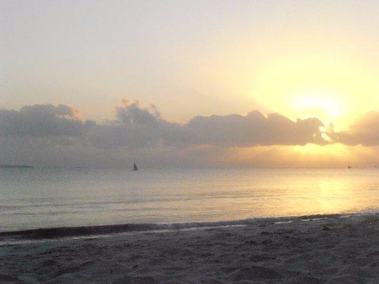Kipepeo Beach Village: Watching sunrise on the beach
