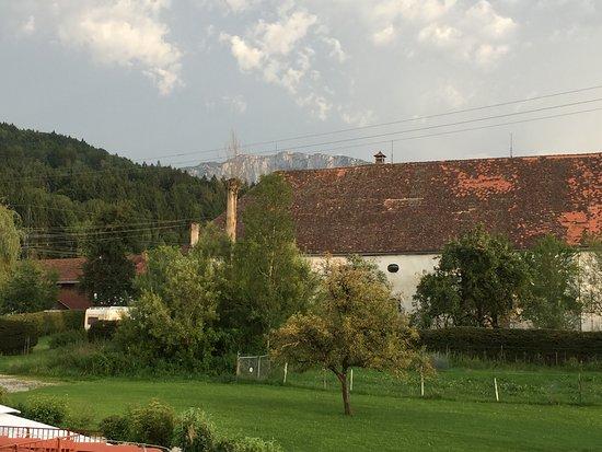 Benediktbeuern, Tyskland: Toller Blick auf die Benediktenwand