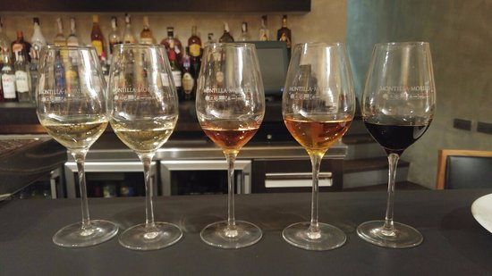 Hospes Palacio del Bailio: Cata de vinos Montilla Moriles. El amontillado, el del medio, espectacular