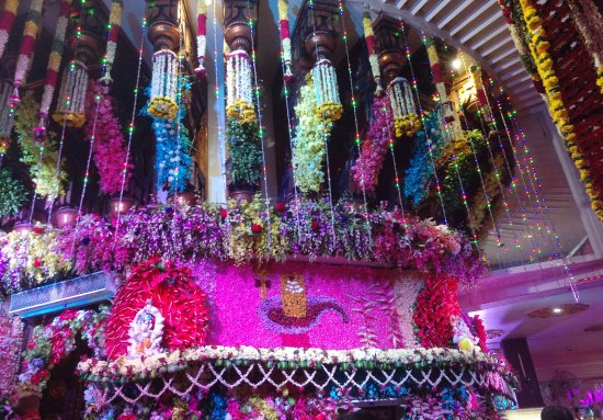 flower decoration siddhivinayak temple picture of shree