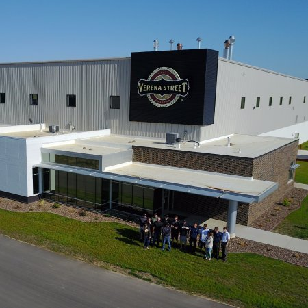 Front entry of our new coffee roasting and packaging facility on Seippel Rd in Dubuque.