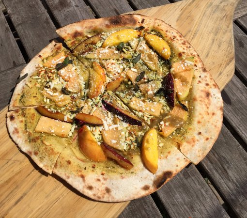 Blooming Grove, NY: Stone Fruit and Melon Pizza