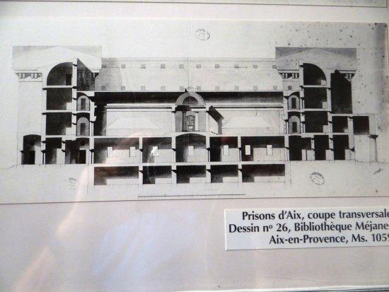 Coupe transversale prison d aix imaginée par ledoux picture of
