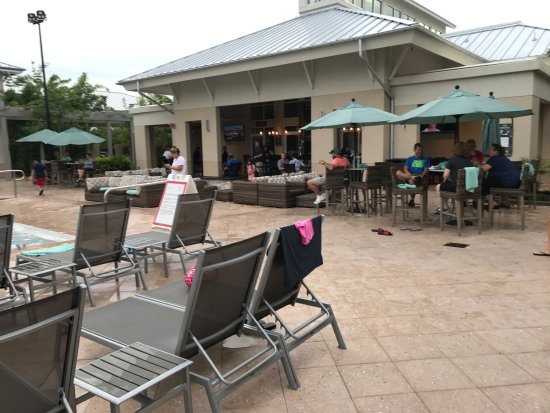 Outdoor Pool Area Facing The Sitting Bar Area Picture Of Springhill Suites Orlando At