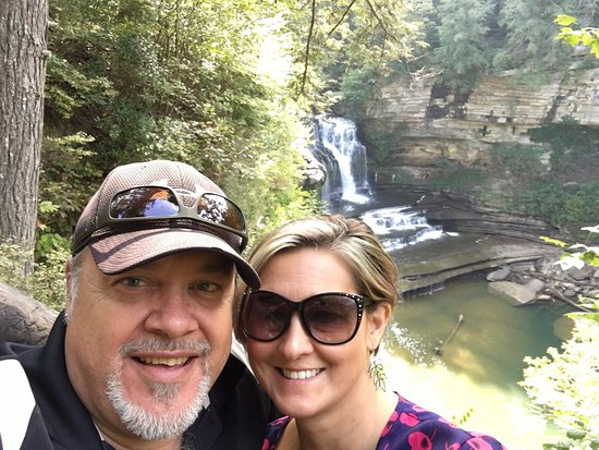 Cummins Falls State Park: The obligatory selfie overlooking the falls