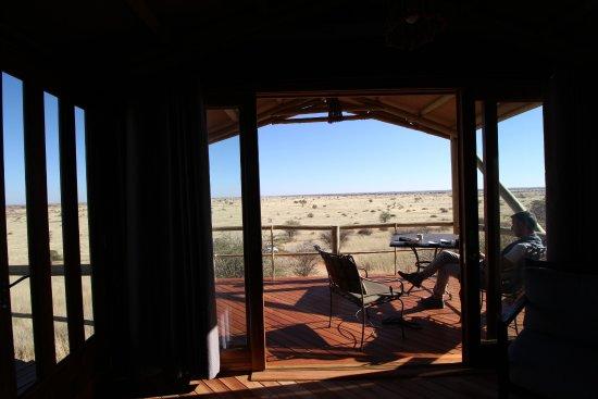 Kalkrand, Namibia: Blick aus dem Stelzenhaus