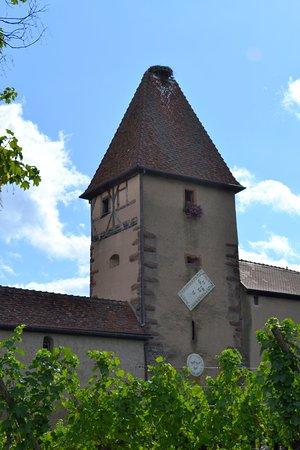 Ammerschwihr, France: Porte Haute et son nid de cigognes