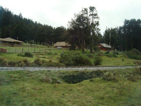 Tren Ecuador: Paisaje hacia El Boliche (Estación cercana al Cotopaxi)