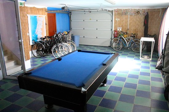 Garage With Pool Table Picture Of Captains Log House Peniche - Pool table in garage