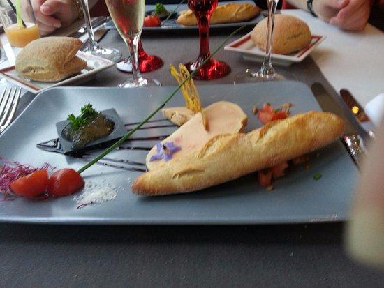 Suce-sur-Erdre, Francia: Foie gras de canard et sa gelée de Malvoisie