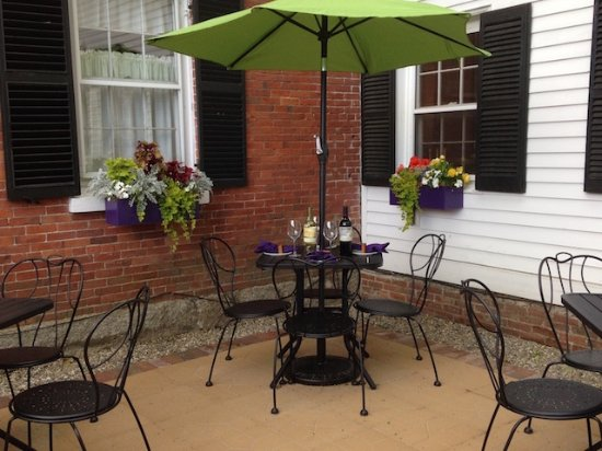 Bucksport, ME: European style outdoor dining.