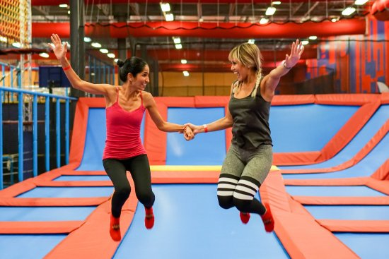 Lake Mary, FL: Trampolines make everyone feel like a kid again