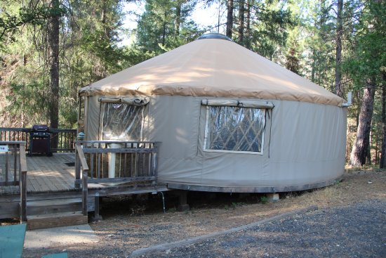 Yosemite Lakes RV Resort: Yurt viewed from outside