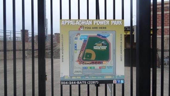 Appalachian Power Park : gate sign